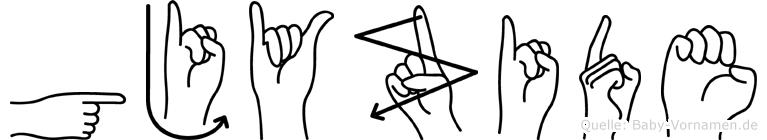 Gjyzide in Fingersprache für Gehörlose