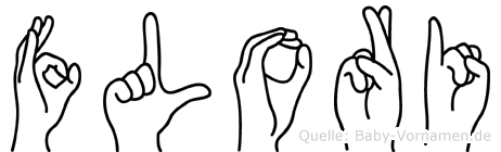 Flori im Fingeralphabet der Deutschen Gebärdensprache
