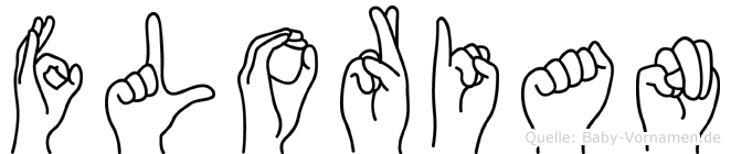 Florian in Fingersprache für Gehörlose