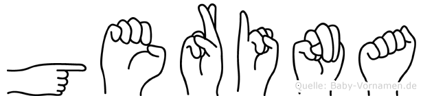 Gerina im Fingeralphabet der Deutschen Gebärdensprache