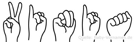 Vinia im Fingeralphabet der Deutschen Gebärdensprache