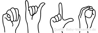 Mylo in Fingersprache für Gehörlose