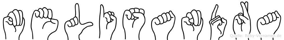 Melisandra in Fingersprache für Gehörlose