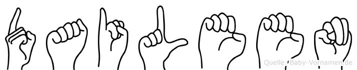 Daileen in Fingersprache für Gehörlose