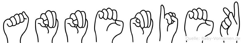 Annemiek im Fingeralphabet der Deutschen Gebärdensprache
