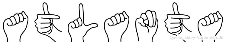 Atlanta im Fingeralphabet der Deutschen Gebärdensprache