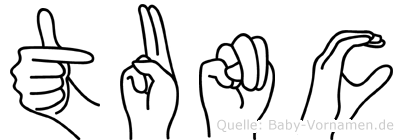 Tunc in Fingersprache für Gehörlose