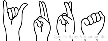 Yura im Fingeralphabet der Deutschen Gebärdensprache