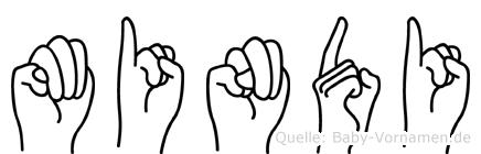Mindi in Fingersprache für Gehörlose