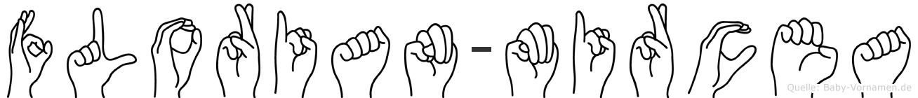 Florian-Mircea im Fingeralphabet der Deutschen Gebärdensprache