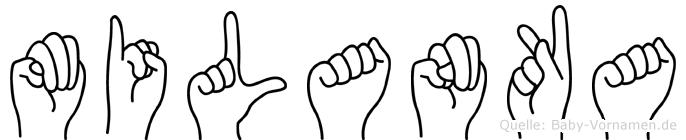 Milanka im Fingeralphabet der Deutschen Gebärdensprache