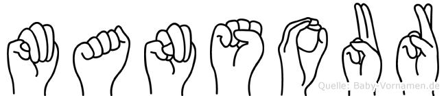 Mansour im Fingeralphabet der Deutschen Gebärdensprache