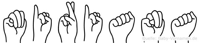 Miriana in Fingersprache für Gehörlose