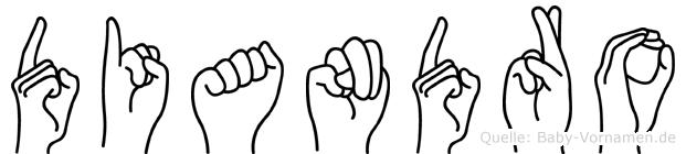 Diandro im Fingeralphabet der Deutschen Gebärdensprache