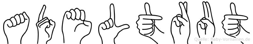 Adeltrut in Fingersprache für Gehörlose