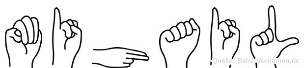 Mihail im Fingeralphabet der Deutschen Gebärdensprache