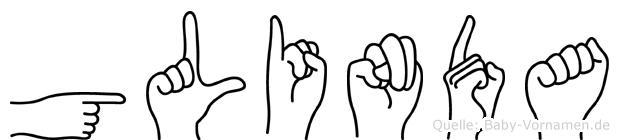 Glinda im Fingeralphabet der Deutschen Gebärdensprache
