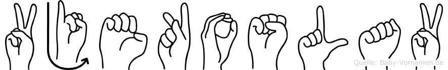 Vjekoslav in Fingersprache für Gehörlose