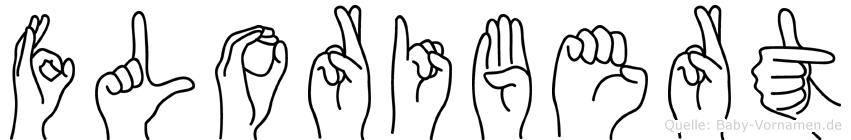 Floribert im Fingeralphabet der Deutschen Gebärdensprache
