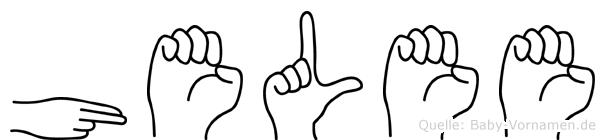 Helee in Fingersprache für Gehörlose