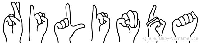 Rilinda in Fingersprache für Gehörlose