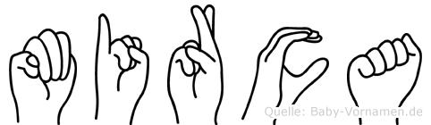 Mirca im Fingeralphabet der Deutschen Gebärdensprache