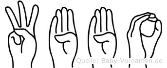 Wübbo im Fingeralphabet der Deutschen Gebärdensprache