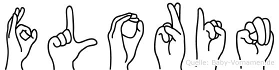 Florin in Fingersprache für Gehörlose