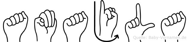 Amajla in Fingersprache für Gehörlose