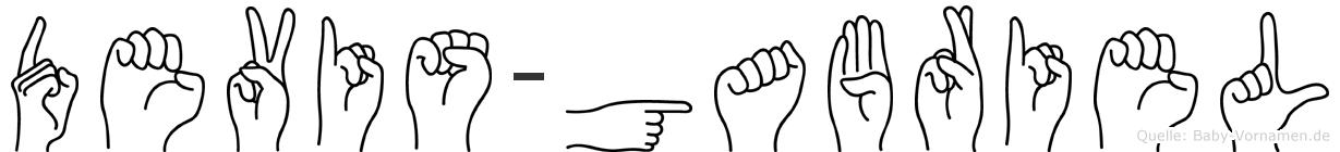 Devis-Gabriel im Fingeralphabet der Deutschen Gebärdensprache
