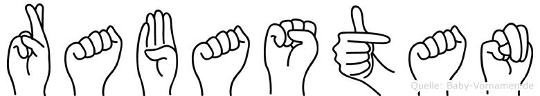 Rabastan im Fingeralphabet der Deutschen Gebärdensprache
