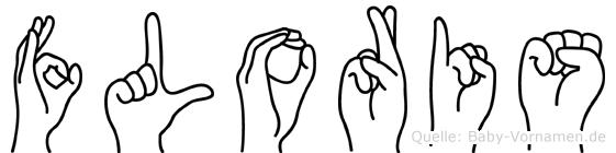 Floris im Fingeralphabet der Deutschen Gebärdensprache