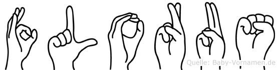 Florus in Fingersprache für Gehörlose