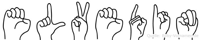 Elvedin in Fingersprache für Gehörlose
