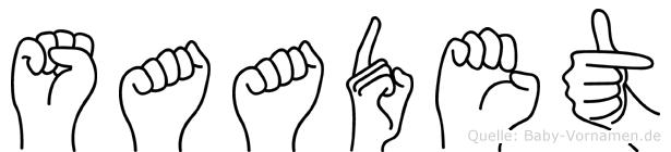 Saadet in Fingersprache für Gehörlose