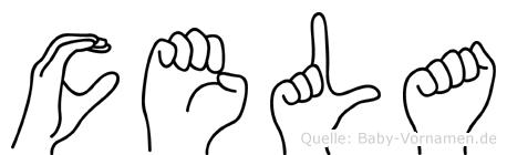 Cela im Fingeralphabet der Deutschen Gebärdensprache