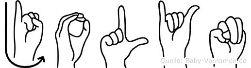 Jolyn in Fingersprache für Gehörlose