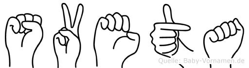 Sveta in Fingersprache für Gehörlose