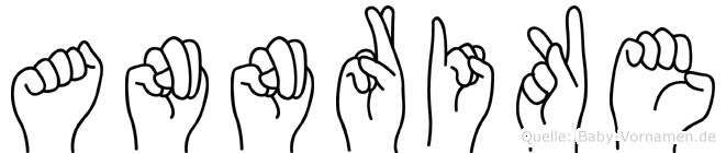 Annrike im Fingeralphabet der Deutschen Gebärdensprache