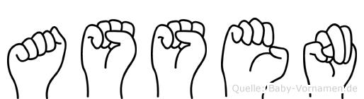 Assen im Fingeralphabet der Deutschen Gebärdensprache