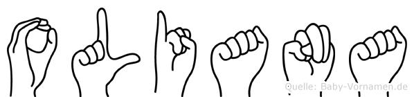 Oliana im Fingeralphabet der Deutschen Gebärdensprache