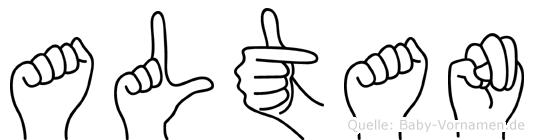 Altan im Fingeralphabet der Deutschen Gebärdensprache