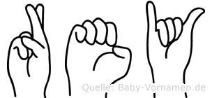 Rey im Fingeralphabet der Deutschen Gebärdensprache