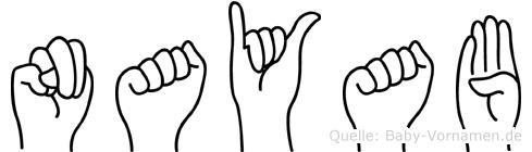 Nayab in Fingersprache für Gehörlose