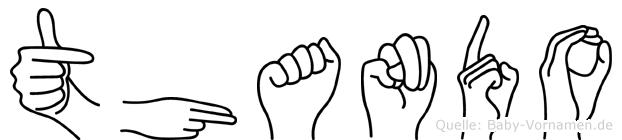 Thando in Fingersprache für Gehörlose