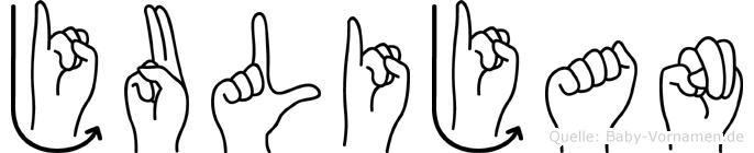 Julijan in Fingersprache für Gehörlose
