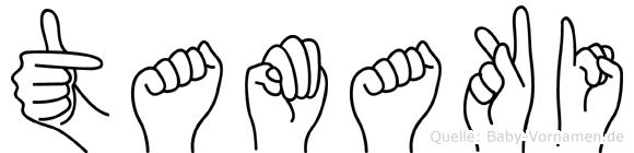 Tamaki im Fingeralphabet der Deutschen Gebärdensprache