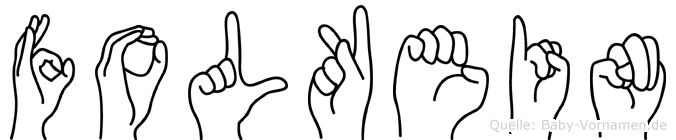 Folkein im Fingeralphabet der Deutschen Gebärdensprache