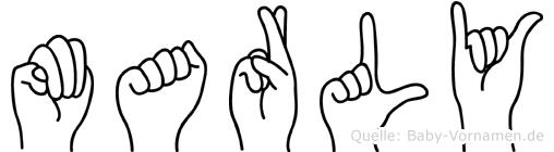 Marly in Fingersprache für Gehörlose