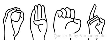 Obed im Fingeralphabet der Deutschen Gebärdensprache